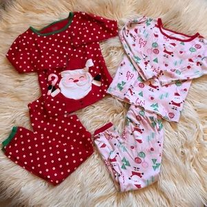 Christmas 🎅🏻 Santa Jammies PJs Pajamas Bundle 3T